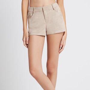 BCBG suede shorts
